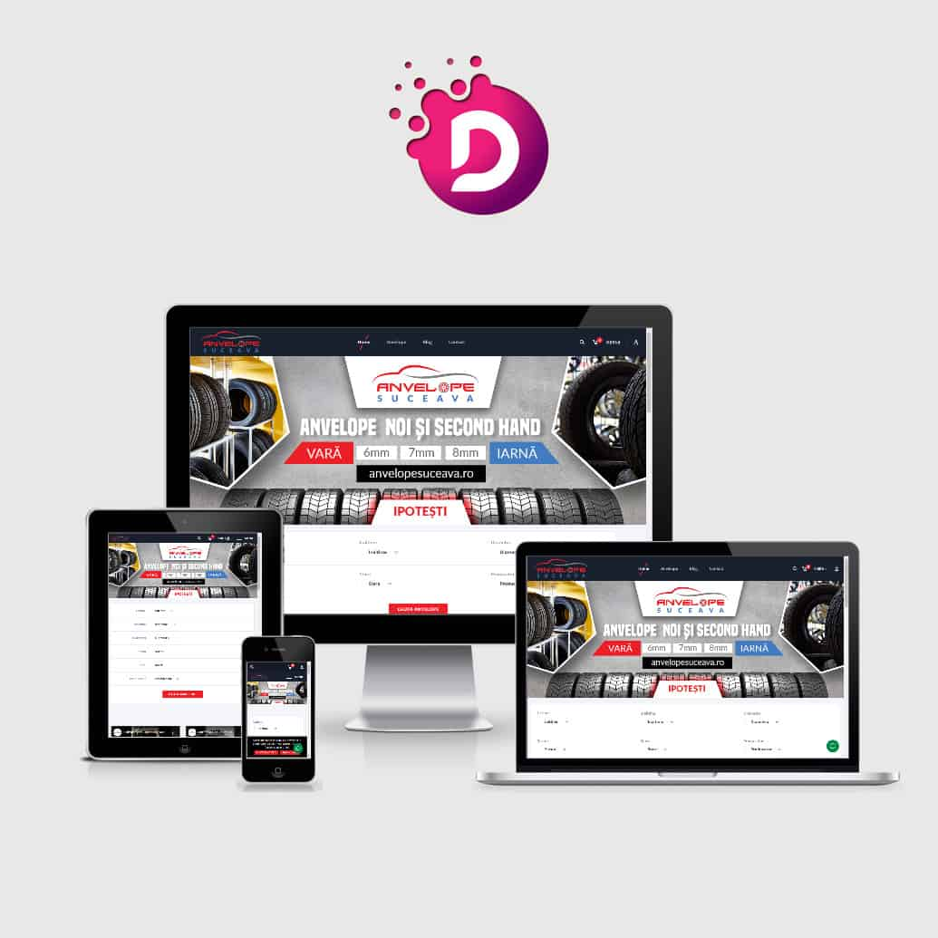 Creare magazin online anvelope auto - anvelopesuceava.ro