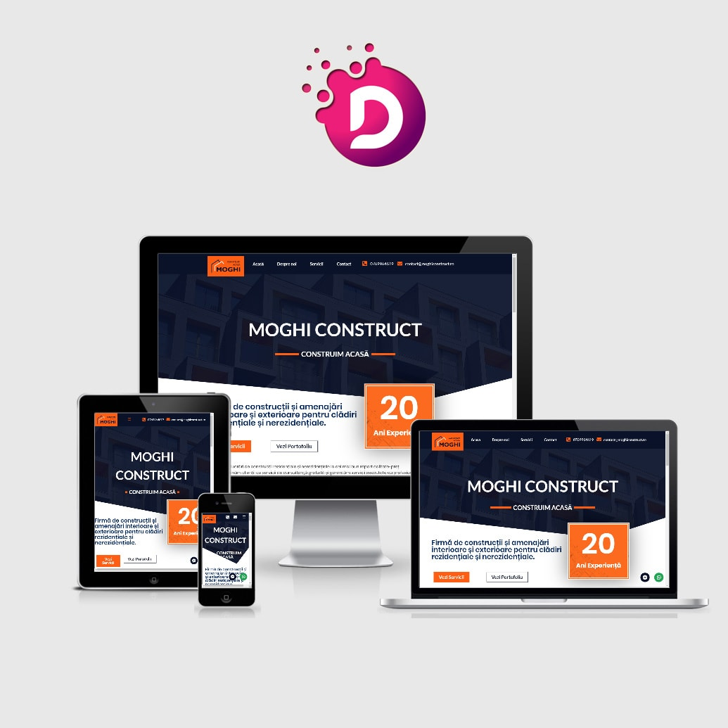 creare site web de prezentare firma constructii
