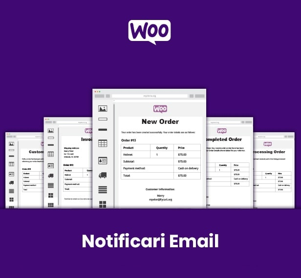 Notificari Email Woocommerce