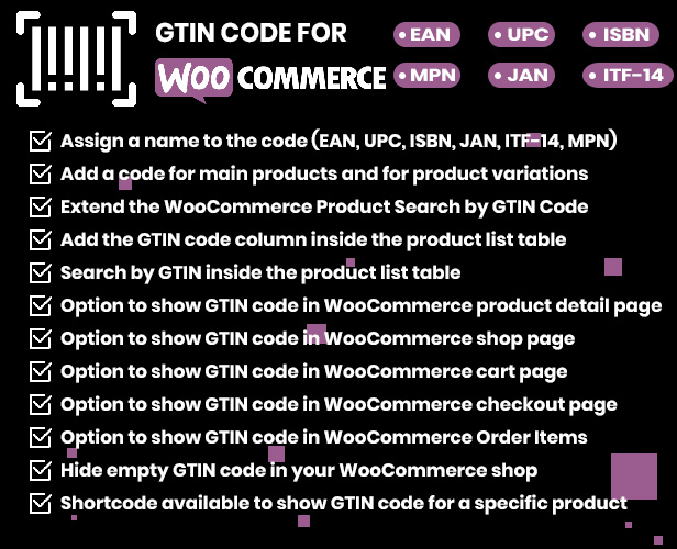 Product GTIN (EAN, UPC, ISBN) for WooCommerce - 1